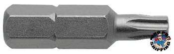 Apex Tool Group Torx Insert Bits, T25 Drive, Skin Card (1 EA/CA)