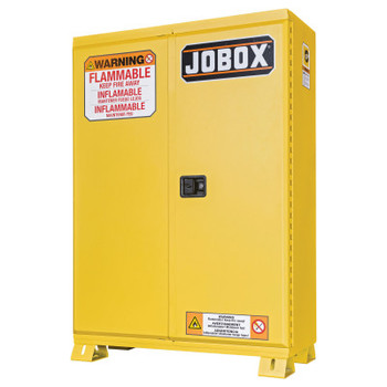 Apex Tool Group Safety Cabinets, Manual-Closing Cabinet, 60 Gal, 46.15 x 26.28 x 67 1/4, Yellow (1 EA/BOX)