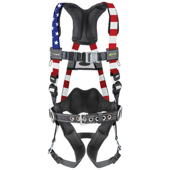 Honeywell AirCore Patriotic Steel Harnesses, Quick-Connect Buckle Legs, Belt (1 EA/EA)