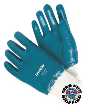 MCR Safety Predator Nitrile Coated Gloves, Small, Blue, Smooth, Palm/Knuckle Coated (12 DZ/EA)
