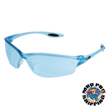 MCR Safety Law 2 Temple Inserts, Light Blue Lens, Polycarbonate, Duramass Hard Coat (12 PR/EA)