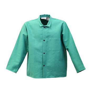 Stanco Flame Resistant Jackets, Large, Cotton Blend, Green (1 EA/EA)