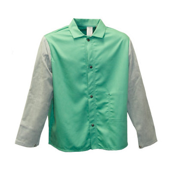 Stanco Flame Resistant Jackets, Medium, Cotton Blend, Green (1 EA/CS)