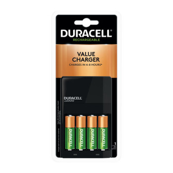 Duracell ION SPEED 1000 Advanced Charger, Includes 4 AA NiMH Batteries (4 EA/CS)