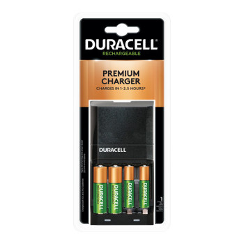 Duracell ION SPEED 4000 Hi-Performance Charger, Includes 2 AA and 2 AAA NiMH Batteries (4 EA/CS)