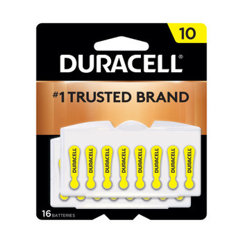 Duracell Button Cell Hearing Aid Battery, #10 (384 CA/CA)