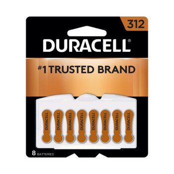 Duracell Button Cell Zinc Air Battery, #312 (288 CA/CA)