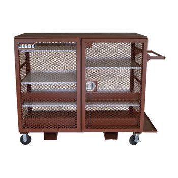 Apex Tool Group Mesh Cabinets, 65 in x 33 in x 55 in, 2 Door, 1500 lb Cap., Brown (1 EA/CTN)