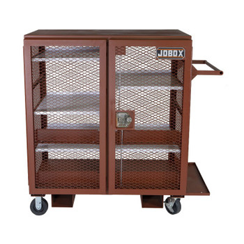 Apex Tool Group Mesh Cabinets, 48 in x 33 in x 55 in, 2 Door, 1400 lb Cap., Brown (1 EA/CTN)