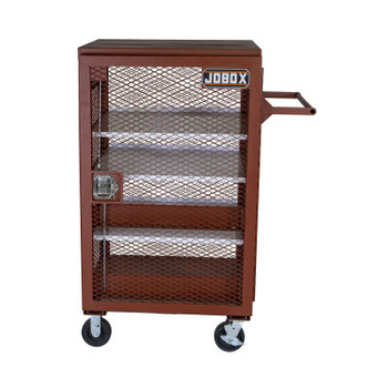 Apex Tool Group Mesh Cabinets, 33 in x 33 in x 51.25 in, 2 Door, 1000 lb Cap., Brown (1 EA/EA)
