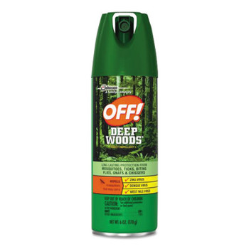 Diversey Deep Woods Dry Insect Repellent, 4oz, Aerosol, Neutral (12 CT/CTN)