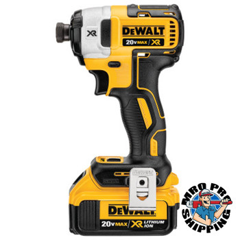 DeWalt XR Brushless 3-Speed Impact Driver Kits, 1/4 in, 3,250 rpm, 1,825 in lb (1 EA/EA)