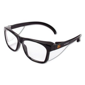 Kimberly-Clark Professional KLEENGUARD MAVERICK Safety Glasses, Clear Anti-Fog/Scratch Lens, Black Frame (12 CA/CTN)
