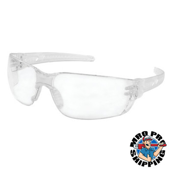 MCR Safety HellKat 2 Safety Glasses, Clear Lens, Polycarbonate, Anti-Fog, Clear Frame (12 DZ/CS)