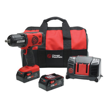 Chicago Pneumatic 1/2 in Cordless Impact Wrench Kit (1 EA/CA)