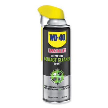 WD-40 Specialist Contact Cleaner, 11 oz, Aerosol Can, Hydrocarbon/Alcohol Odor (6 CA/CA)