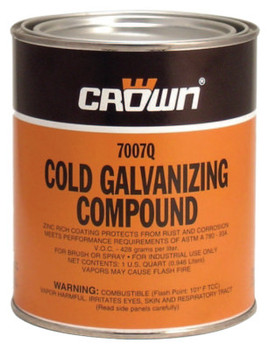 Aervoe Industries Cold Galvanizing Compound, 1 Quart Can (4 CN)