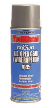 Aervoe Industries Heavy Duty Open Gear & Wire Rope Lubes, 12 oz, Aerosol Can (12 CAN)
