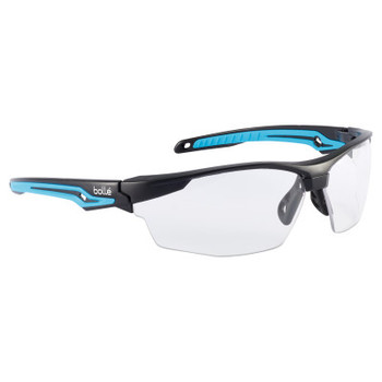Bolle TRYON Safety Glasses, Clear Lens, Anti-Fog/Anti-Scratch, Black Frame, TPR (10 BX/EA)