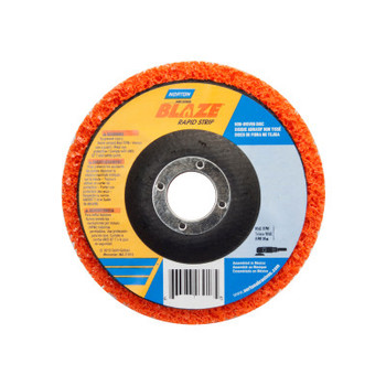 Norton Bear-Tex Blaze Rapid Non-Woven Depressed Center Discs, 4-1/2 in x 7/8 in, 12000 RPM (10 BX/CA)