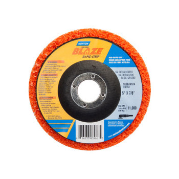 Norton Bear-Tex Blaze Rapid Non-Woven Depressed Center Discs, 5 in x 7/8 in, 11000 RPM (10 BX/EA)