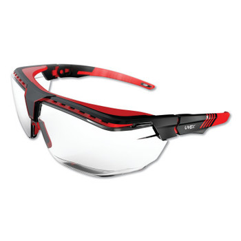 Honeywell Avatar OTG Safety Glasses, Clear/Polycarbonate/Anti-Reflective Lens, Red/Black (1 EA/WH)