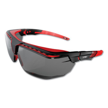 Honeywell Avatar OTG Safety Glasses, Gray/Polycarbonate/Anti-Reflective Lens, Red/Black (1 EA/CS)