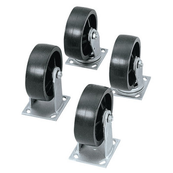 Apex Tool Group Heavy-Duty Casters, 4 in, 2 Fixed; 2 Swivel (1 ST)