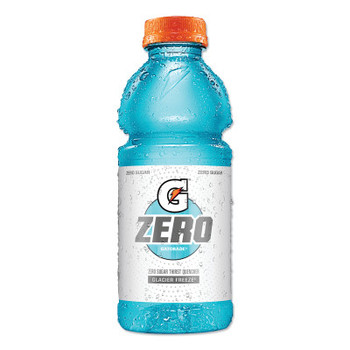 Gatorade G Zero Sugar Thirst Quencher, 20 oz., Bottle, Glacier Freeze (24 CA/EA)