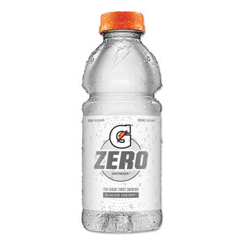Gatorade G Zero Sugar Thirst Quencher, 20 oz., Bottle, Glacier Cherry (24 CA/EA)