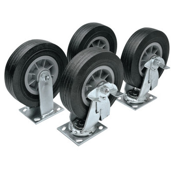 Apex Tool Group Heavy-Duty Casters, 6 in, 2 Fixed; 2 Swivel (1 ST)