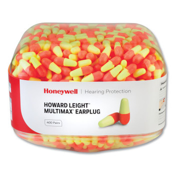 Honeywell Earplug Dispenser Refills, Canister, Coral/Yellow, MultiMax (1 CA/EA)