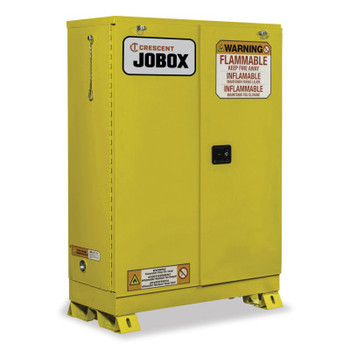 Delta Consolidated 30 Gallon Flammable Self-Closing  Safety Cabinet - Yellow (1 EA/CA)