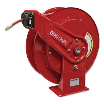 Reelcraft Heavy Duty Spring Retractable Hose Reels, 3/8 in x 75 ft (1 EA/BOX)