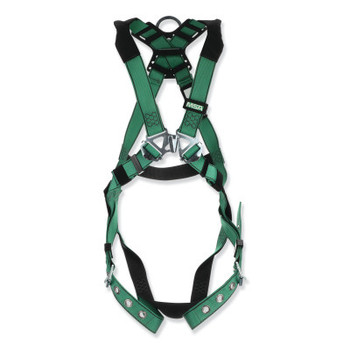 MSA V-FORM Full-Body Harness, Back D-Ring, Standard, Tongue Buckle Leg Straps (1 EA/EA)