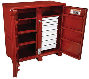 Apex Tool Group Industrial Cabinets, 60 1/8W x 30 1/4D x 60 3/4H, 2 Doors, 8 Drawers (1 EA)