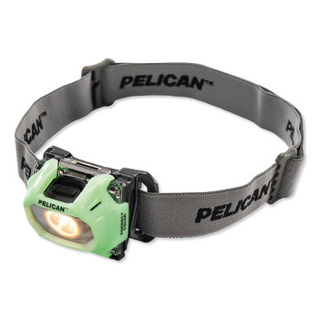 Pelican Color Correction LED Headlight, 3-AAA Alkaline, High 72/Low 36 Lumens, Photoluminescent (1 EA/BX)
