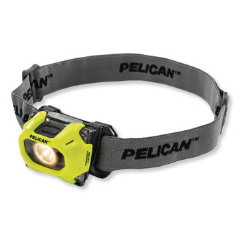 Pelican Color Correction LED Headlight, 3-AAA Alkaline, High 72/Low 36 Lumens, Yellow (1 EA/BX)