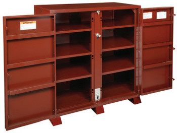 Apex Tool Group Extra Heavy-Duty Cabinets, 60 1/8W x 24 1/4D x 60 3/4H, 2 Doors, 11 Shelves (1 EA)