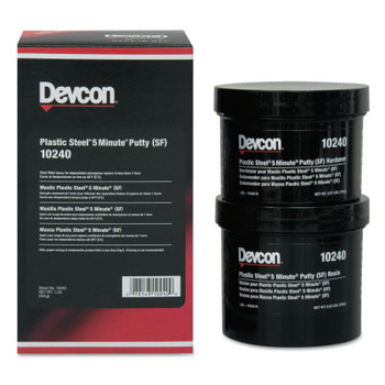 Devcon Plastic Steel 5 Minute Putty (SF), 1 lb Kit (1 EA)