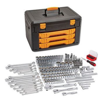 Apex Tool Group Mechanics Tool Set in 3 Drawer Storage Box 243PC 6pt (1 EA/CA)
