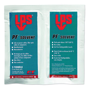 PT Technologies PF Solvents Wet/Dry Wipes (Pack of 144) (144 CS/EA)