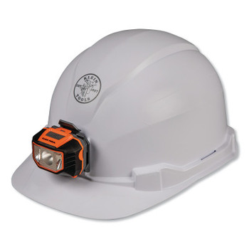 Klein Tools Hard Hat, Non-vented, Cap Style with Headlamp (1 EA/CA)