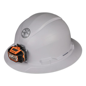 Klein Tools Hard Hat, Non-vented, Full Brim Style with Headlamp (1 EA/CA)