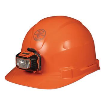 Klein Tools Hard Hat, Non-vented, Orange Cap Style with Headlamp (1 EA/CA)