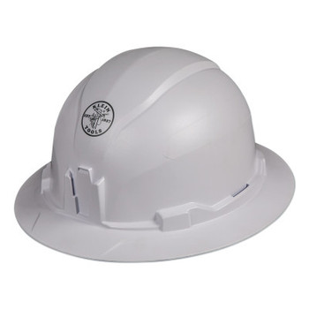 Klein Tools Hard Hat, Non-vented, Full Brim Style (1 EA/CT)