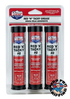 Lucas Oil Red N Tacky Grease 3 Pack, 3 fl oz. Cartridge (10 BTL / CS)