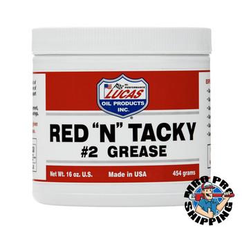 Lucas Oil Red N Tacky Grease, 1 Lb. Tub (12 BTL / CS)
