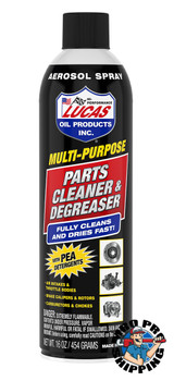Lucas Oil Aerosol Deep Clean Parts Cleaner and Degreaser, 16 oz (12 BTL / CS)