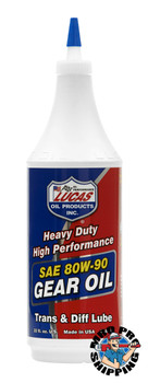 Lucas Oil SAE 80W-90 Heavy Duty Gear Oil, 1 Quart (12 BTL / CS)